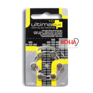 Ultima Plus hallókészülék elem, 10-es méret, 6 db/ levél